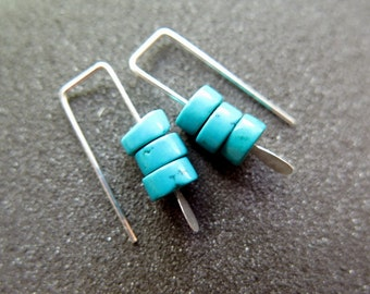small turquoise earrings. southwestern jewelry