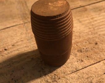 Antique Vintage Wooden Match Safe
