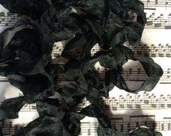 Crinkle or smooth Ribbon Black seam binding crinkly ribbon Halloween Holiday Art Doll Supply TeamHaha Hafair OFG ADO Norga Mha Ellijay