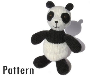 PDF Pattern - Konrad the Cognitive Panda - Knitting