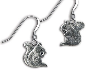 Sterling Silver Squirrel Earrings