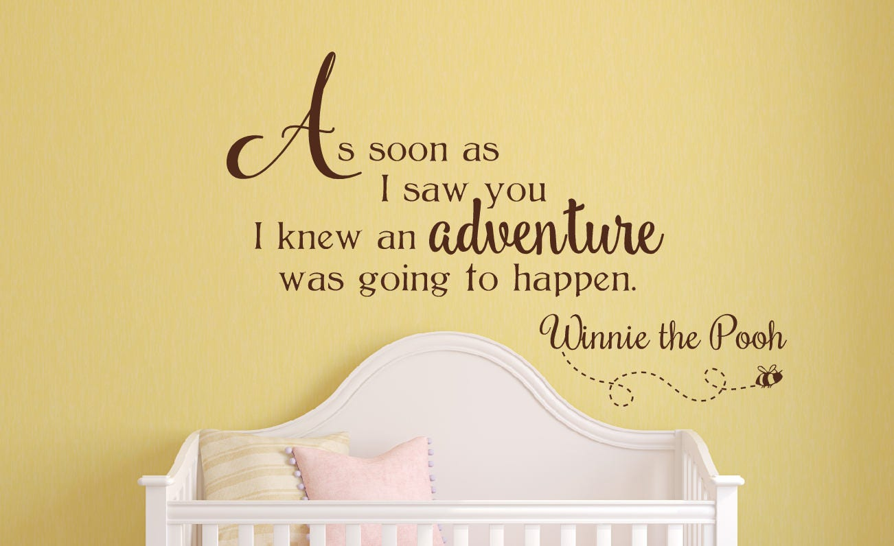 Winnie the Pooh Wall Decal Nursery Wall Decal Removable