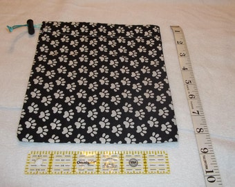White Paws Handmade Drawstring Bag