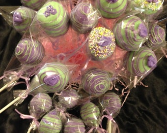 Baby Shower 24 Cake Pops 10 marshmellow dipped Baby Shower