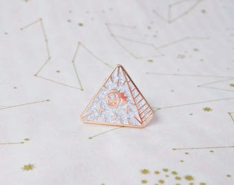 Frilluminati Rose Gold and Glitter Enamel Pin