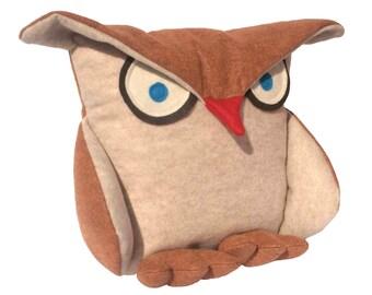 Mécontents d'Owl - 12 pouces eco senti cuivre et gruau de couverture oreiller