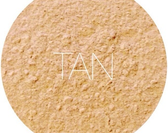 Tan Mineral Foundation • Mineral Makeup • Gluten-Free Makeup • Bath and Beauty • Earth Mineral Cosmetics