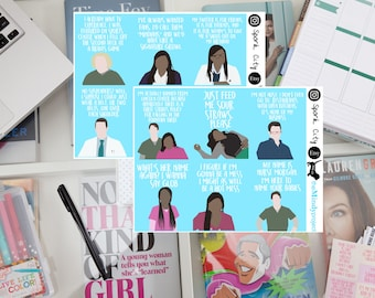The MINDY PROJECT quote & picture Planner Sticker