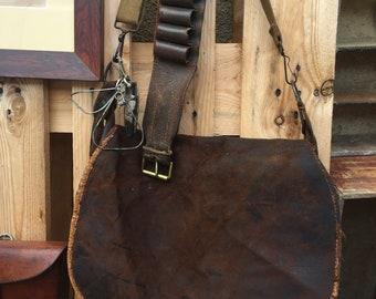 Old hunter satchel bag