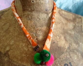 Funky Pompom Necklace
