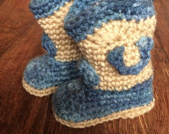 Cowboy/Cowgirl Boots, Baby, crochet