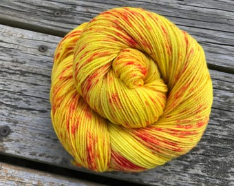 Speckled, Hand-dyed, Superwash Sock Yarn, Fingering Weight