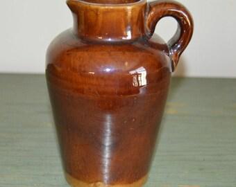 Vintage Redware Pottery Jug
