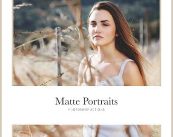Matte Portraits Photoshop Actions - 20 Matte Photoshop Actions - Wedding, Newborn, Graduation, Portrait