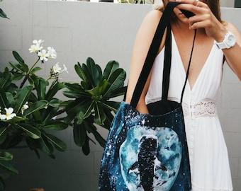 Eco Tote Bag // Blue Moon Whale Shark