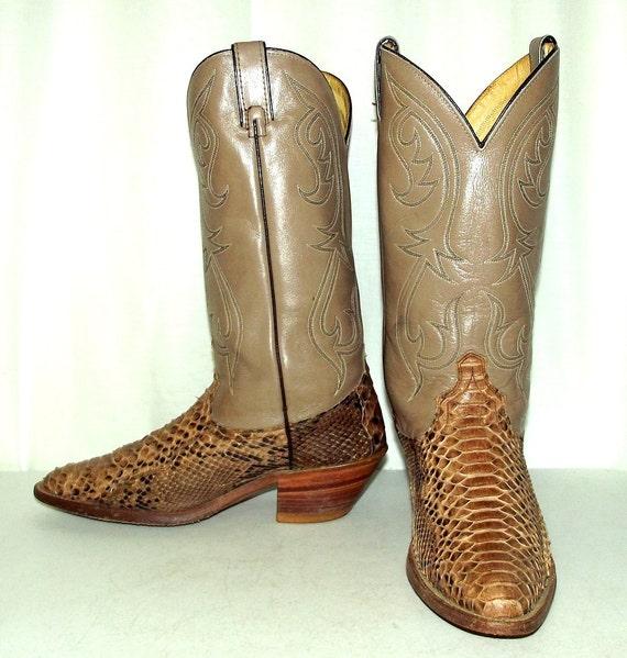 5 Dingo Python womens Boots Cowboy D western 10 wear Leather size Vintage mens 9 Hq6ZFPHxw