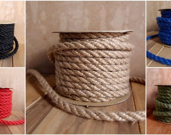 FancySupply Natural Burlap Jute Rope twine Cord - 6 mm x 10 yards - Choose Colors * free shipping *
