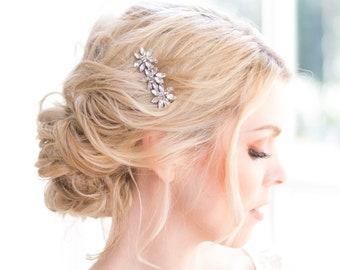 1920 wedding headpiece, Bridal hair comb, Crystal hair comb, Silver bridal hair accessories, Gold bridal hair comb, Wedding hair piece 1920s