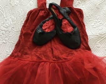 Ballerina tutu and ballet slippers