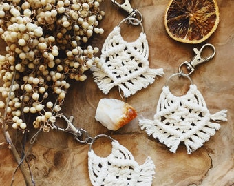 Tiny Macrame Key Chain, Bag Chain