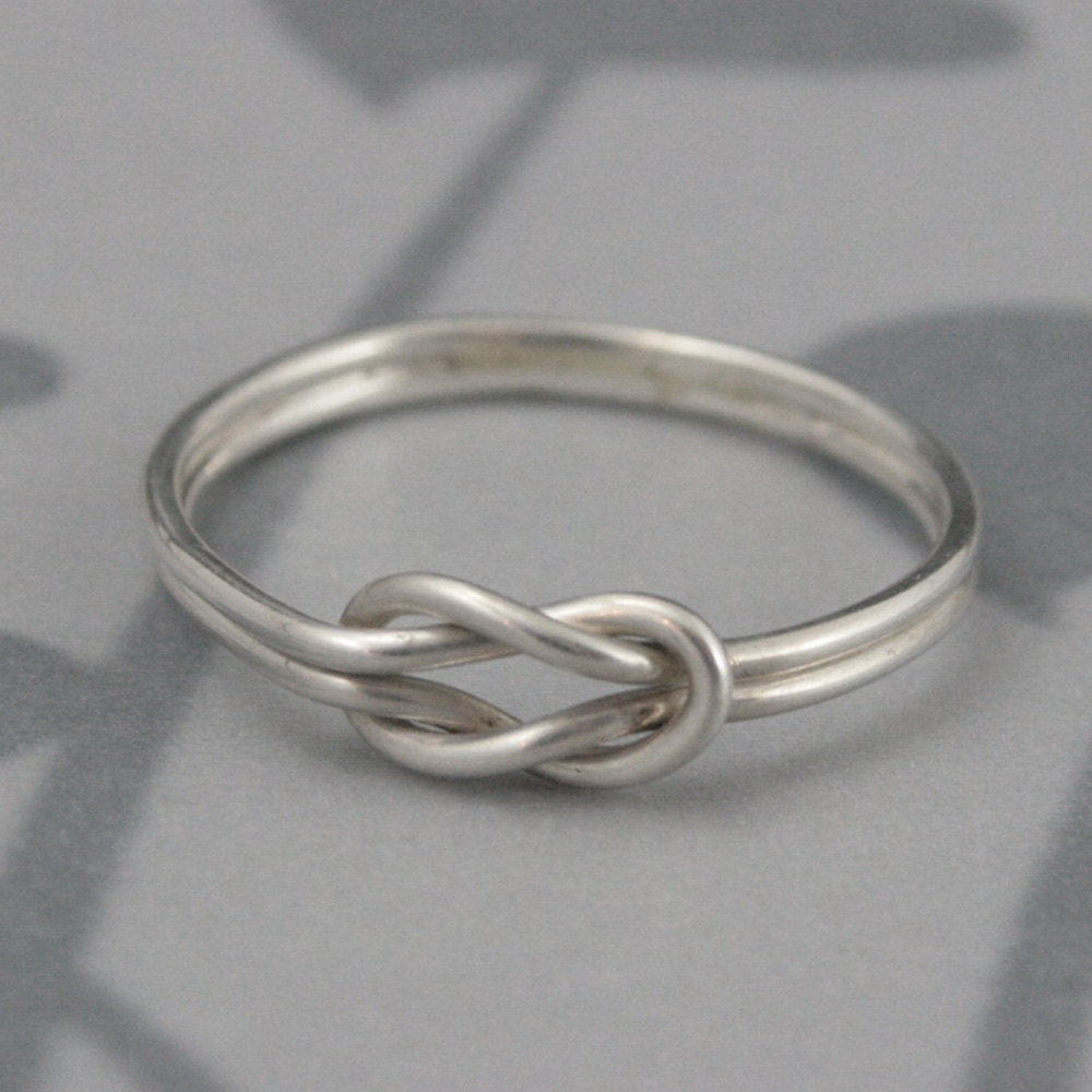 Relatively Infinity Knot Love Knot Ring in Solid Sterling SilverDouble XH45