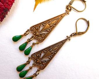 Vintage earrings is Byzantium