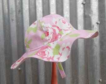 Pink Baby Sun Hat 6 month size