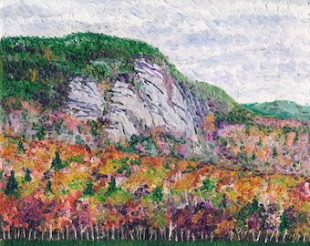 Mountainside in Autumn, 8 x 10 in., giclee print