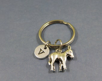 donkey keychain - donkey keyring - personalized donkey gift - animal lovers - donkey charm - porte clé âne bourricot