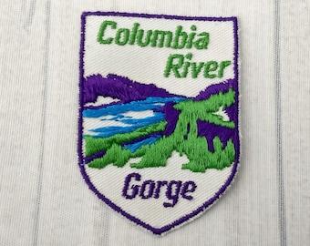"Used Vintage Columbia River Gorge Patch 2.75"", Oregon Travel, Washington Souvenir, Pacific Northwest Collectible"