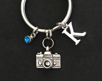 Personalized Camera Keychain Photographer Gift