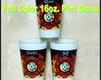 Dye Sublimation - Full Color 16 oz. Pint Glasses