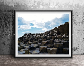 THE GIANT'S CAUSEWAY, Colour Photography Print, Landscape, Landmark, Inspire, Travel, Wanderlust, Interior, Wall Art, Northern Ireland