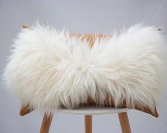 Leather cushion, tan leather cushion, sheepskin cushion, boudoir cushion, scatter cushion, home decor, sofa styling, luxury home gift