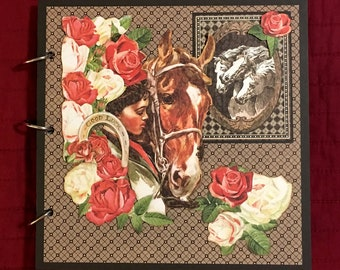 Horses, Equestrian, Horse Show, Scrapbook, Pre-made Scrapbook Album, Handmade Mini Album