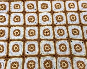 vintage granny squares afghan throw blanket