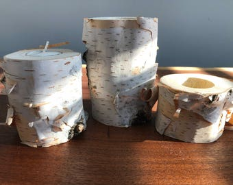 Birch Candle holders #1 (from Wisconsin)