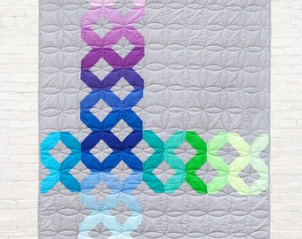 Color Crossing Quilt Pattern