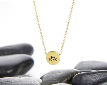 Bicycle Sliding Charm Necklace