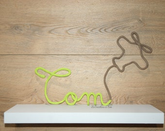 Name knitting wool or wool Word and form to choose deco room baby, children's room, birthday gift, personalized gift