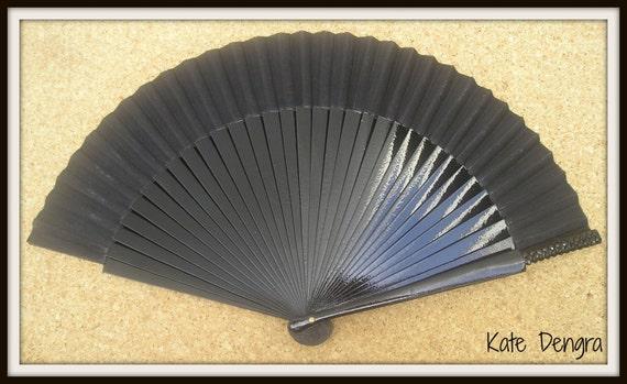 Black Bling Hand Fan