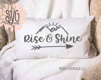 Rise and Shine SVG Vector File. So many uses! Cricut Explore and more. Rise And Shine Early Riser Morning Person Sun Diamond Grind SVG