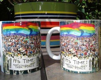 Gay Pride Mug - History of Pride march mug - Pride Gift
