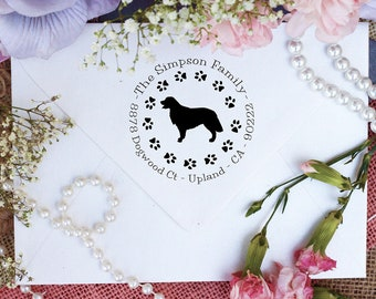 Golden Retriever Dog Stamp, Golden Retriever Lover Return Address Stamp, Cute Stamp for Golden Retriever Lover, Dog Stamp --10351-PI53-000
