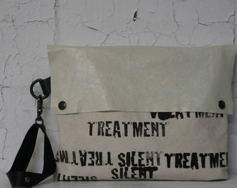 078 Leather Clutch Handbag, Pouch , Purse, white leather, text, fashion accessories