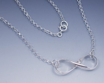 Silver Infinity Necklace, Infinity Symbol Jewelry