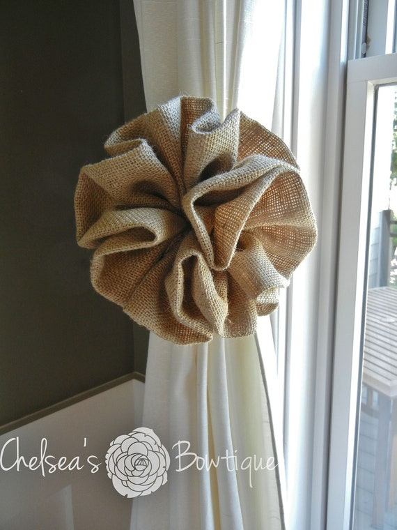 Items Similar To Burlap Curtain Tie Back 8 5 Quot On Etsy