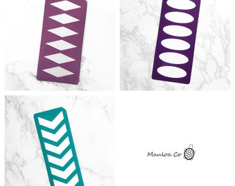 6 Section Makeup Swatch Stencil (Chevron, Oval, or Diamond Swatch Stencils)