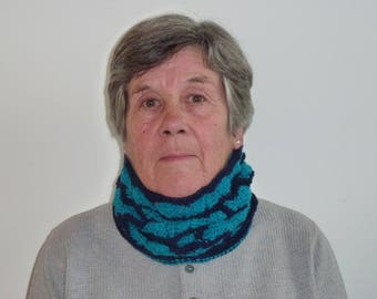 Hand Knitted Cowl, Cosy Neck Warmer