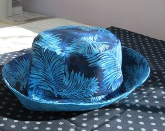 Small Blue Batik sun hat